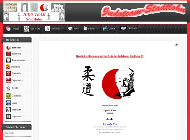 Judoteam Stadtlohn Website